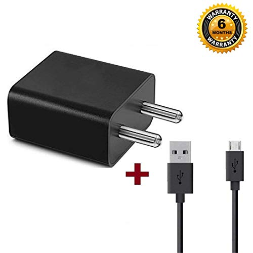 Inqure Ultra Fast Speed 2.4A Fast Charger for Redmi Mi Note 4 / Mi 5A / Mi Note 5 / Note 5 Pro/ 6 / 6A with Full Copper Charging Cable (Black)