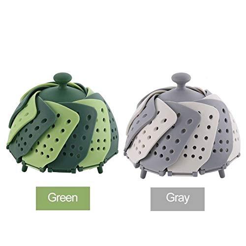 Batterie de cuisine en silicone Etuve Food Basket Mesh vapeur silicone pliable alimentaire de fruits légumes vapeur Cuisinière vaisselle Steamer vidange Storag