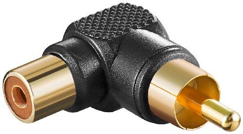 10 Stück Adapter sw Cinch Stecker auf Kupplung - abgewinkelt