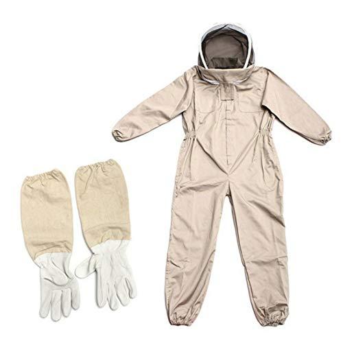 A-A Tuta da apicoltura con velo per recinto, anti vespa in cotone traspirante, giacca da apicoltura ventilata, protezione professionale, unisex, (L,XL,2XL)