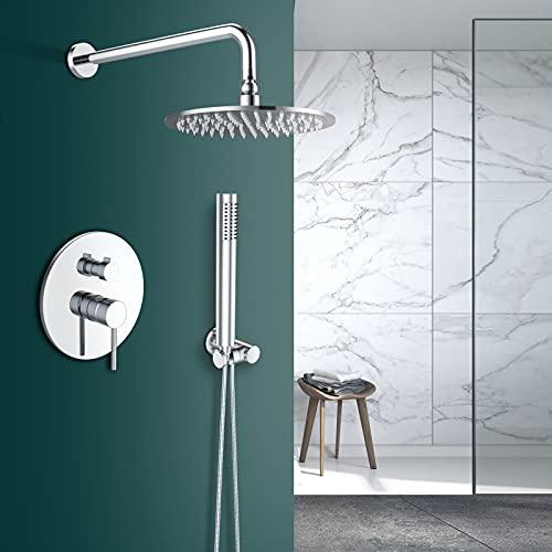Rozin Sistema de ducha empotrado en cromo, sistema...