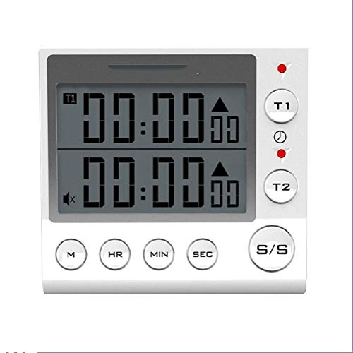 Z-Y Timer keuken Kookwekker Digital Countdown Timer 2-kanaals knipperende LED for Lab Electronic Kitchen Homework Oefening Gym Workout Cooking