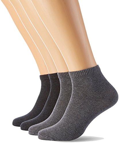 s.Oliver Socks Herren Unisex Classic Quarter 4p Socken, Grau (Grey 10), (Herstellergröße: 35/38)