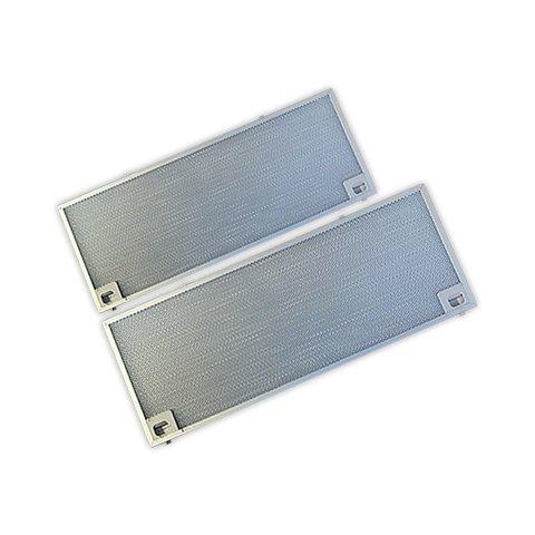 DOJA Industrial | Filtro metalico Campana Compatible con TEKA CNL-2002 | TEKA Kit 2 Unidades 185x510 mm / 210x545 mm