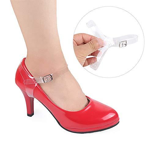 Zhizhuo - 1 par de correas para zapatos de tacón, transparente desmontable,...