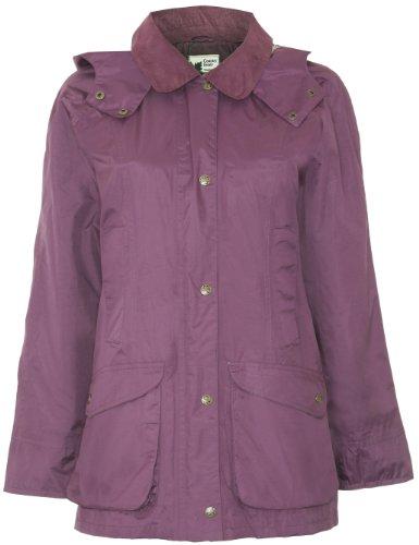 Champion Damen Mantel, Einfarbig Violett Pflaumenfarben 40