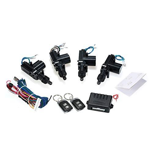 KKmoon Chiusura Centralizzata Auto, Kit Centrale Telecomando Universale per Auto 12V Sistema di Chiusura Senza Chiave di Blocco con 2 pop-up di Supporto per Telecomando