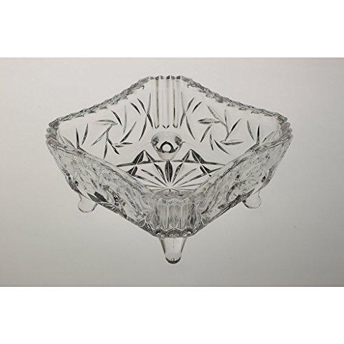 CRISTALICA Pied Fronde Imperial 11,5 cm, Cristal de Plomb, Transparent, Verre de Haute qualité Kingdom Powered by