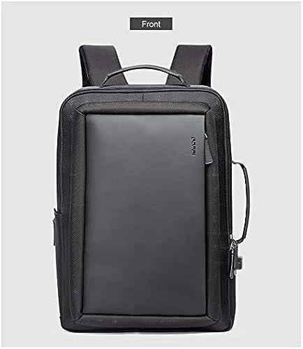 Hommes Affaires sac à dos Voyage imperméable à l'eau Slim Laptop Sac à Dos Sac d'école Sac à Dos Hommes Sac à Dos Sac en Cuir 30x12x44cm Sombre