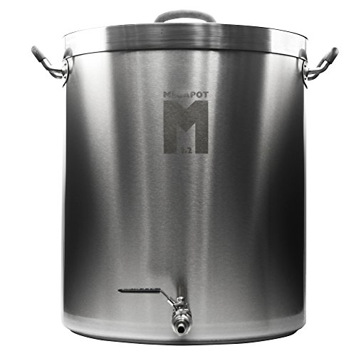 Northern Brewer - Megapot 1.2 Stainless Steel Brew Kettle with Volume Markings (30 Gallon w/Valve)