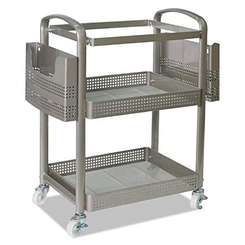 Alera FM642212G Mobile File Cart, 22 1/4w x 12 3/8d x 25 1/4h, Silver