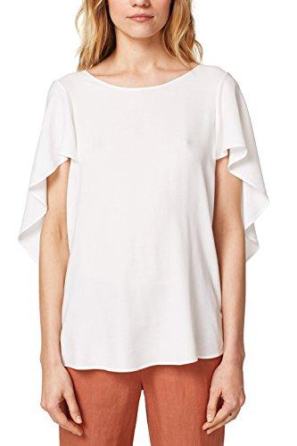 ESPRIT Collection Damen 058EO1F017 Bluse, Weiß (Off White 110), 34