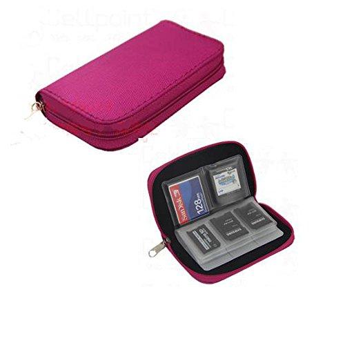 Q4Tech Speicherkarte Speichertragetasche Schutz Wallet. 22 Slots. (Rosa)