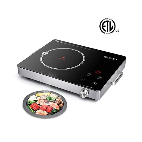Electric Ceramic Cooktop,Cooker stove with Timer Temperature Control, Smart Touch...