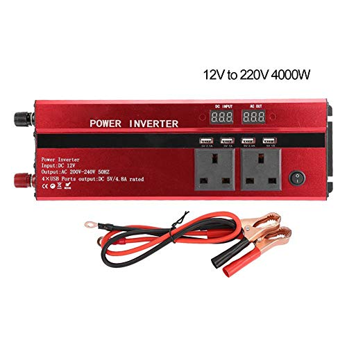 Power Inverter, Built-in Short Circuit Protection 12V to 220V Inverter, with 2Pcs(24V to 220V, 5000W)