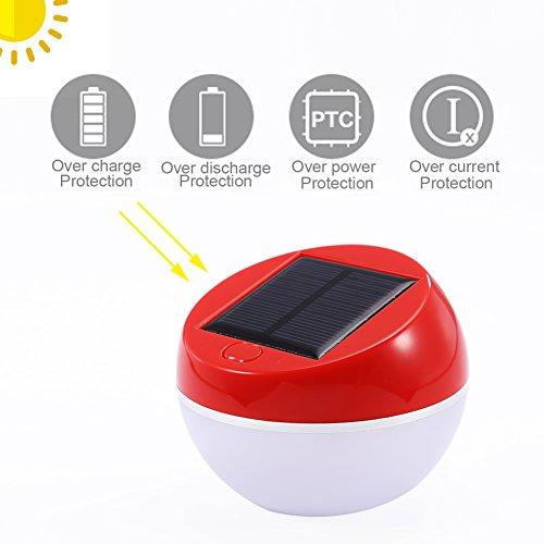 Solar Nachtlicht, 2 Beleuchtung Modi Tischlampe für Kinder Baby Home, Outdoor Camping Lichter für Notfälle Garten