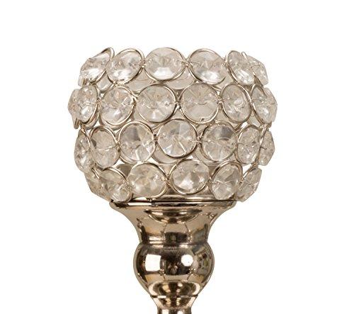 Lifestyle & More 5 Stück passende Glaseinsätze Silber für Normale Kerzenständer Kerzenleuchter Kandelaber Höhe 8,5 cm Durchm. 8,5 cm