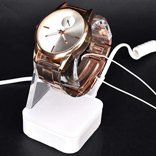Eingebauter 250Ma Akku mit blauem und rotem LED-Leuchten Displayhalter Uhrenuhrständer Geeignet für alle Arten von Uhren(British regulatory)