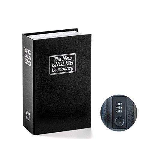 ACAMPTAR Dictionnaire livre coffre-fort Diversion le secret cache Planque Livre Cachette serrure /& cle Noir
