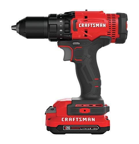 CRAFTSMAN V20 Cordless Drill/Driver Kit (CMCD700C1)