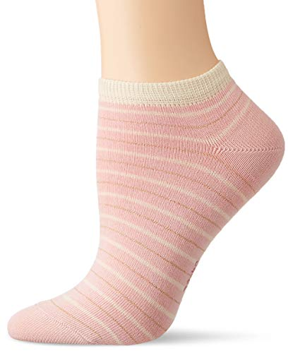 FALKE Damen Sneakersocken Stripe Shimmer - Baumwollmischung, 1 Paar, Rosa (Blossom 8645), Größe: 35-38