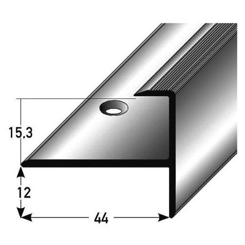 Profil/é de transition // Bande de seuil // 80 mm Aluminium anodis/é, autoadh/ésif couleur: bronze fonc/é type: 350
