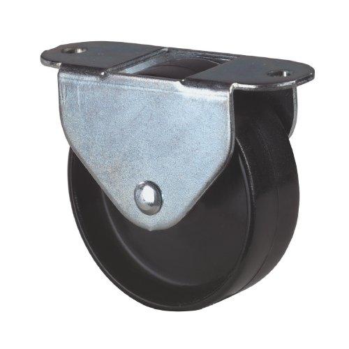 Kastenrolle mit Kunststoffrad ø 15 mm, Stahlblech verzinkt,Kunststoffrad schwarz