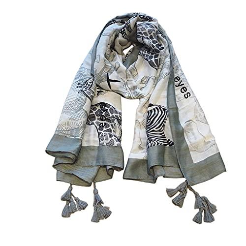 REDCVBN Bufandas Chal Verano Sección Delgada Bufanda Joker Sección Larga Toalla de Playa Chal Protector Solar del Desierto Bufandas de Moda para Mujer