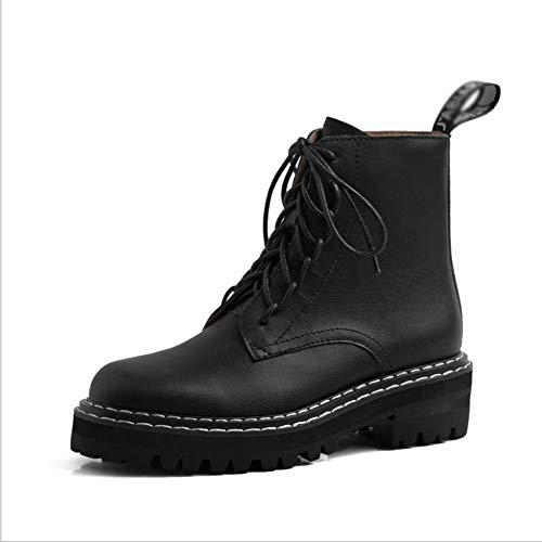 LIUJUN-WEI Zapatos Casuales de Otoño E Invierno, Corta Corta Martin Botas de Moda, Botas de Moda de Moda Simple Y Versátil (Color : B, Size : 34)