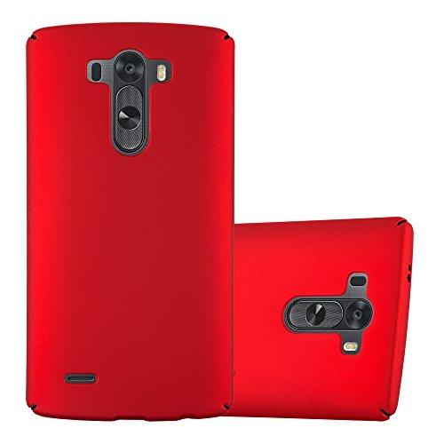 Cadorabo Funda para LG G3 en Metal Rojo - Cubierta Protección de Plástico Duro Super Delgada e Inflexible con Antichoque - Case Cover Carcasa Protectora Ligera