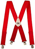 CLC Custom Leathercraft 110RED Heavy Duty Work Suspenders, Elastic Straps, One Size, Red