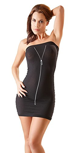 Orion Tubekleid - erotisches Minikleid für Frauen, enges Party-Kleid in schwarz, transparenter Stretch-Stoff perfekt zur erotischen Verführung (S-L)
