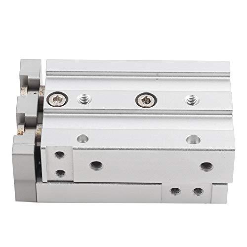 Liujaos Cilindro de Aire neumático, Cilindro de Aire de Doble acción, guía de Columna de líquido Cruzada para ensamblaje de precisión para Productos químicos para la Industria(MXS12-30)