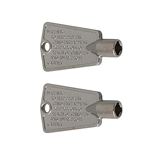 Mxfans 216702900 - Chiave per porta frigorifero e congelatore, 2 pezzi, colore: Argento