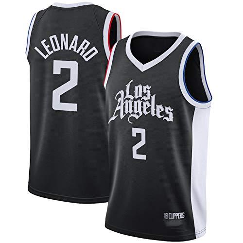 HZHEN Jerseys de la NBA de los Hombres, Kawhi Leonard 2# Clippers Basketball Jersey, Fresco Tela Transpirable Camisa de Entrenamiento Ventilador sin Mangas Chaleco,L (175~180CM / 75~85KG)