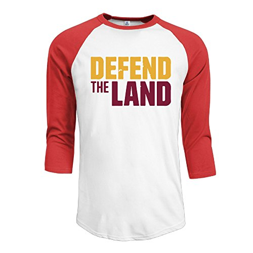 Cavaliers Defend The Land Finals Game Men's 3/4 Sleeve Baseball T-shirts M Red