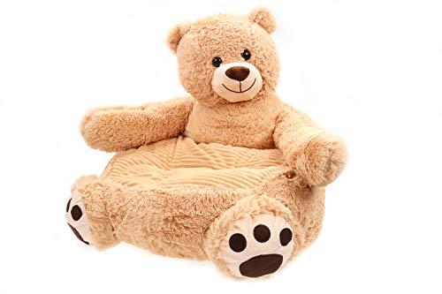Creation Gross Sessel/Stuhl/Sofa/Sitzsack für Kinder, Tiere, weicher Plüschbezug 50 * 50 * 45cm (Bär)