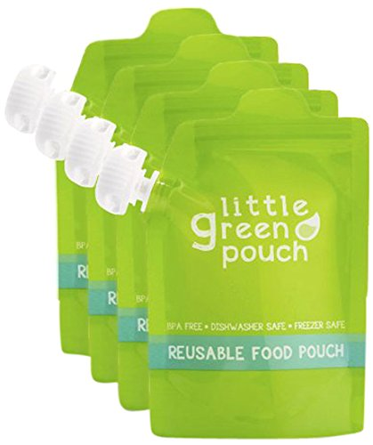 Little Green Pouch Reusable Food Pouch - 6 oz - 4 ct
