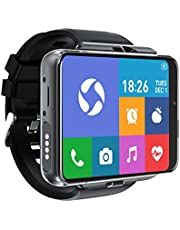 "[4U.com] 4G/LTE Smart Horloge Telefoon Android 9.0 4-Core CPU 4 GB+64 GB 2.88 ""HD Scherm 13MP+5MP Dual Camera 2300 mAh IP65 Waterdichte WiFi Bluetooth GPS Sport Hartslag"