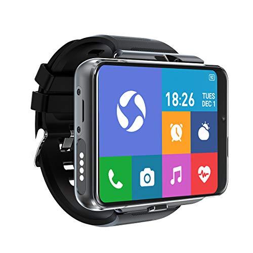 [4U.com] 4G/LTE reloj inteligente de 8 núcleos CPU de 4 GB+64 GB de 2,88' pulgadas pantalla táctil completa Android 9.0 cámara dual 2300 mAh IP67 impermeable WiFi GPS Bluetooth ritmo cardíaco