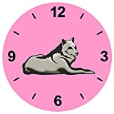 'Cristal Reloj 'lobo tumbado Lobos Wolfsrudel–Bosque Luna Llena de reloj de pared estante...