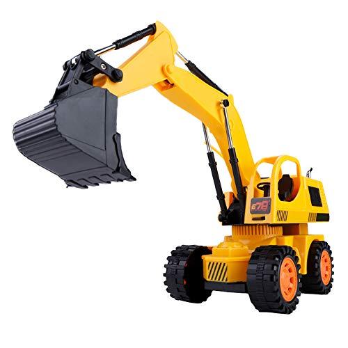 RC Auto kaufen Baufahrzeug Bild: Dilwe RC Bagger, 5CH Full Functional Fernbedienung Bagger Baufahrzeug Bagger Traktor*