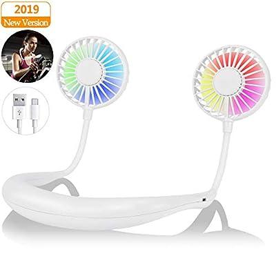 Portable Fan Neck Fan with LED Light