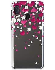 Uposao Compatible con Samsung Galaxy A20e Funda Transparente Dibujo Diseño Silicona TPU Suave Silicona [ Ultra Fina ] Flexible Hybrid Antichoque Funda Case Caja Carcasa Protección,Amor Corazon