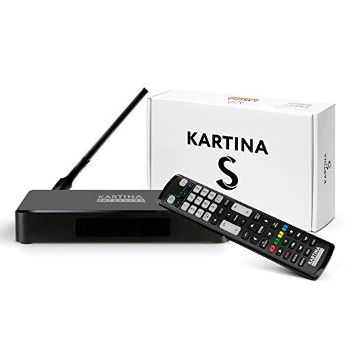 Kartina S - IPTV + SAT Receiver für Kartina.TV - Russisches Fernsehen - 4k Ultra HD 1080p DVB-S2 HEVC H.265 HDMI Micro SD USB Ethernet Картина ТВ
