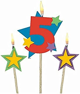 #5 Decorative Birthday Candle &Star Candles | Party Supply