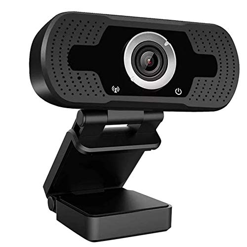DEMOO 1080P Webcam mit Mikrofon, HD-Streaming, Plug and Play, 120 Grad Ultra-Weitwinkel, Autofokus, USB-Webcam kompatibel mit Desktop/Laptop für Konferenzen/Telefonieren