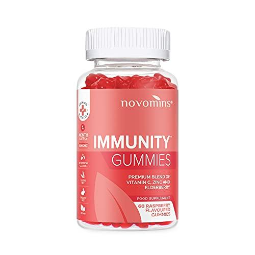 Gominolas de Bayas de Sauco - Gominolas Veganas – Gominolas para la Inmunidad Infundidas con Vitamina C y Zinc – Gominolas de Vitaminas – Estimulante Inmunológico – Gominolas de Zinc y Vitamina C