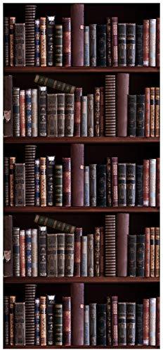 posterdepot ktt0706 Türtapete Türposter Bücherregal mit Alten Büchern-Größe 93 x 205 cm