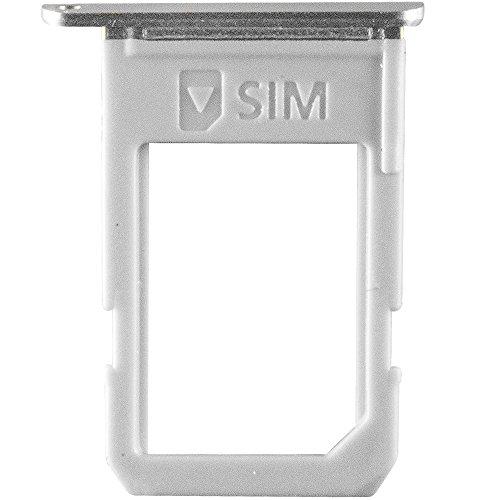 Unbekannt Original Samsung Simkartenhalter Silver/Silber für Samsung G928F Galaxy S6 Edge Plus (SIM Tray) - GH98-37692C